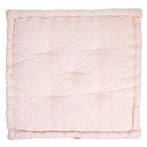 Coussin de sol Laura, rose pâle l.60 x H.60 cm