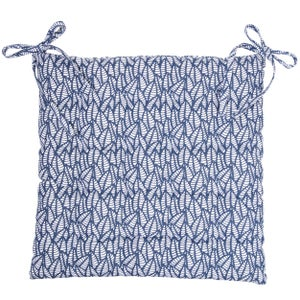 Galette de chaise Laura, bleu marine l.40 x H.40 cm