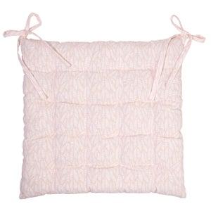 Galette de chaise Laura, rose pâle l.40 x H.40 cm