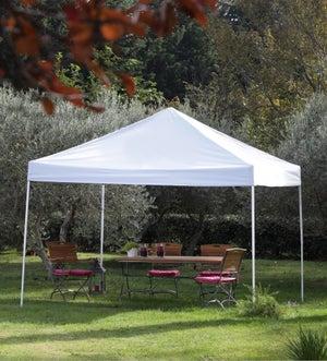 Tente Autoportante Multi Usages Acier Gris Métal 18 M²