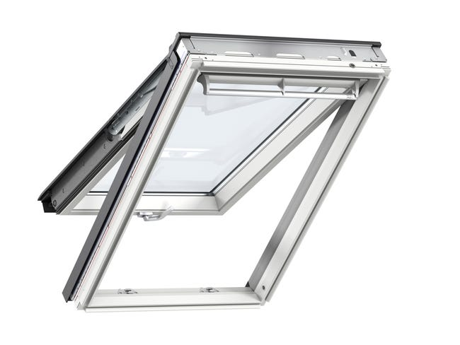 Velux 114 X 118 Tout Confort Whitefinish Bois Blanc A Projection Gpl Sk06 Leroy Merlin