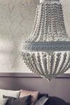 Suspension, romantique charme métal blanc BRILLIANT LIBA 93726/05 3 lumière(s) D