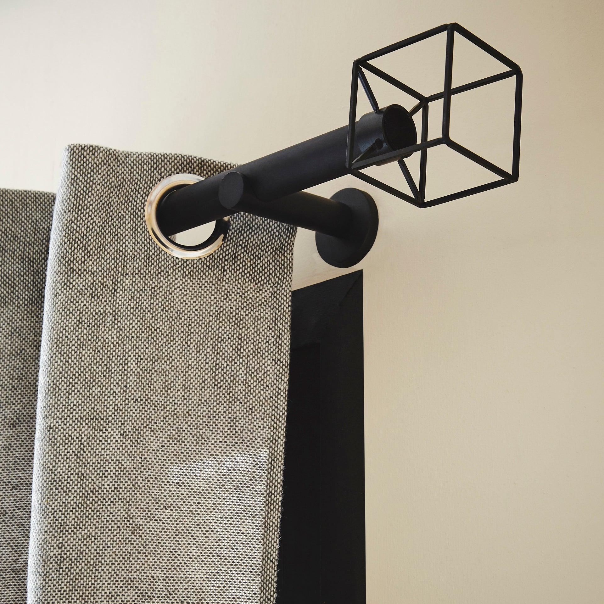 Tringle /à rideaux extensible 120-200 cm S/érie Lys Noir vieilli