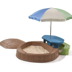 Bac à sable plastique Summertime play center STEP 2, L.78 x l.145 cm