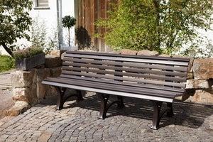 Image : Banc de jardin en résine Blome borkum, 3/4 personnes, marron