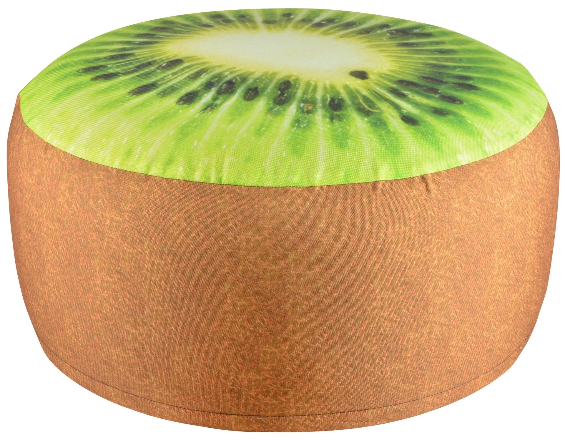 Pouf gonflable impression kiwi imperméable Bk012, D58cm