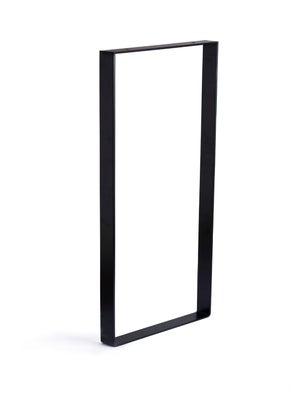 Image : Pied de meuble rectangle fixe à visser acier mat noir, 71 cm