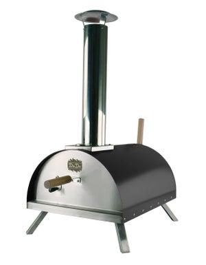 Four à pizza à pellets en acier noir, l.41 x L.58 x H.28 cm