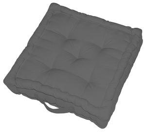 Coussin de sol Newelema INSPIRE, gris anthracite l.40 x H.40 cm