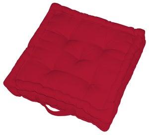 Coussin de sol Newelema INSPIRE, rouge l.40 x H.10 cm