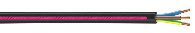 câble électrique 3 g 15 mm² u1000r2v l15 m noir  leroy