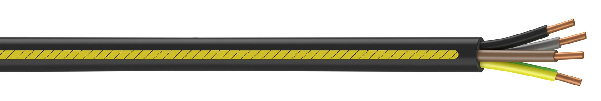 câble électrique 4 g 25 mm² u1000r2v l50 m noir