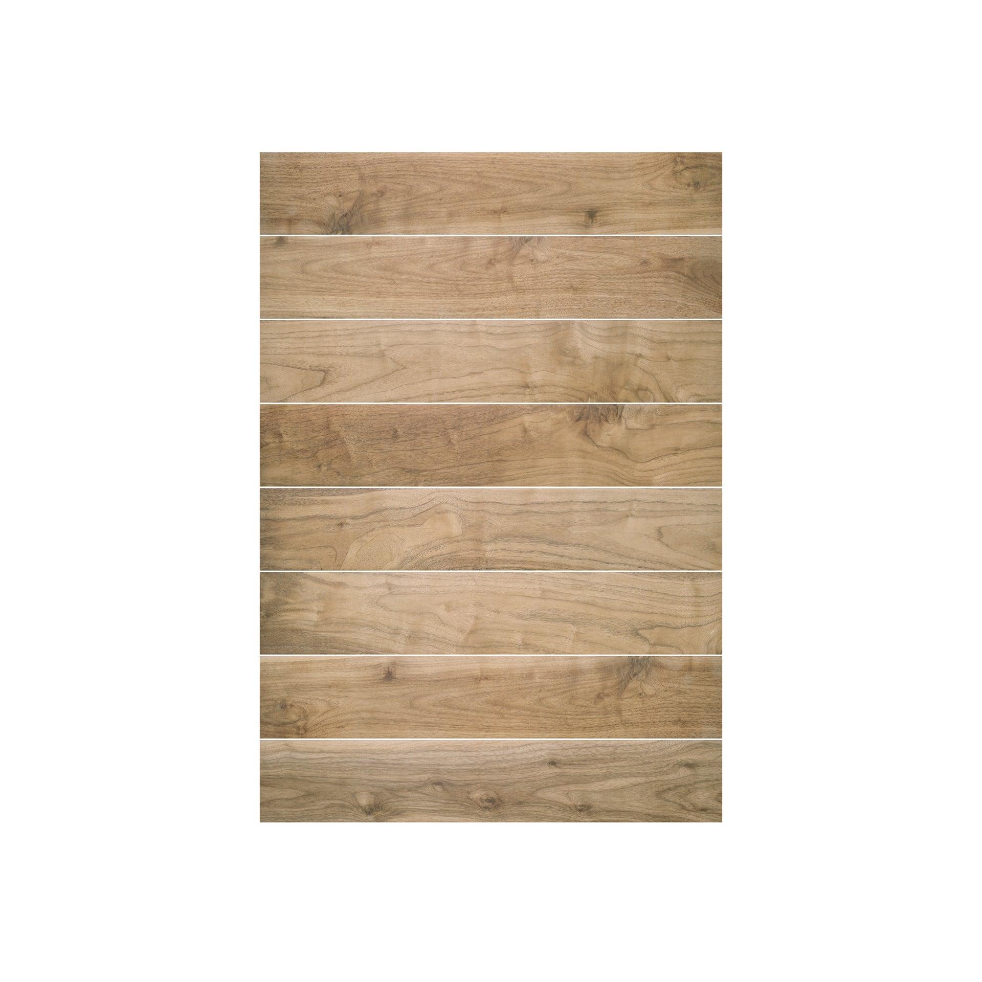 Carrelage sol et mur forte effet bois naturel Spania l.15 x L.90 cm