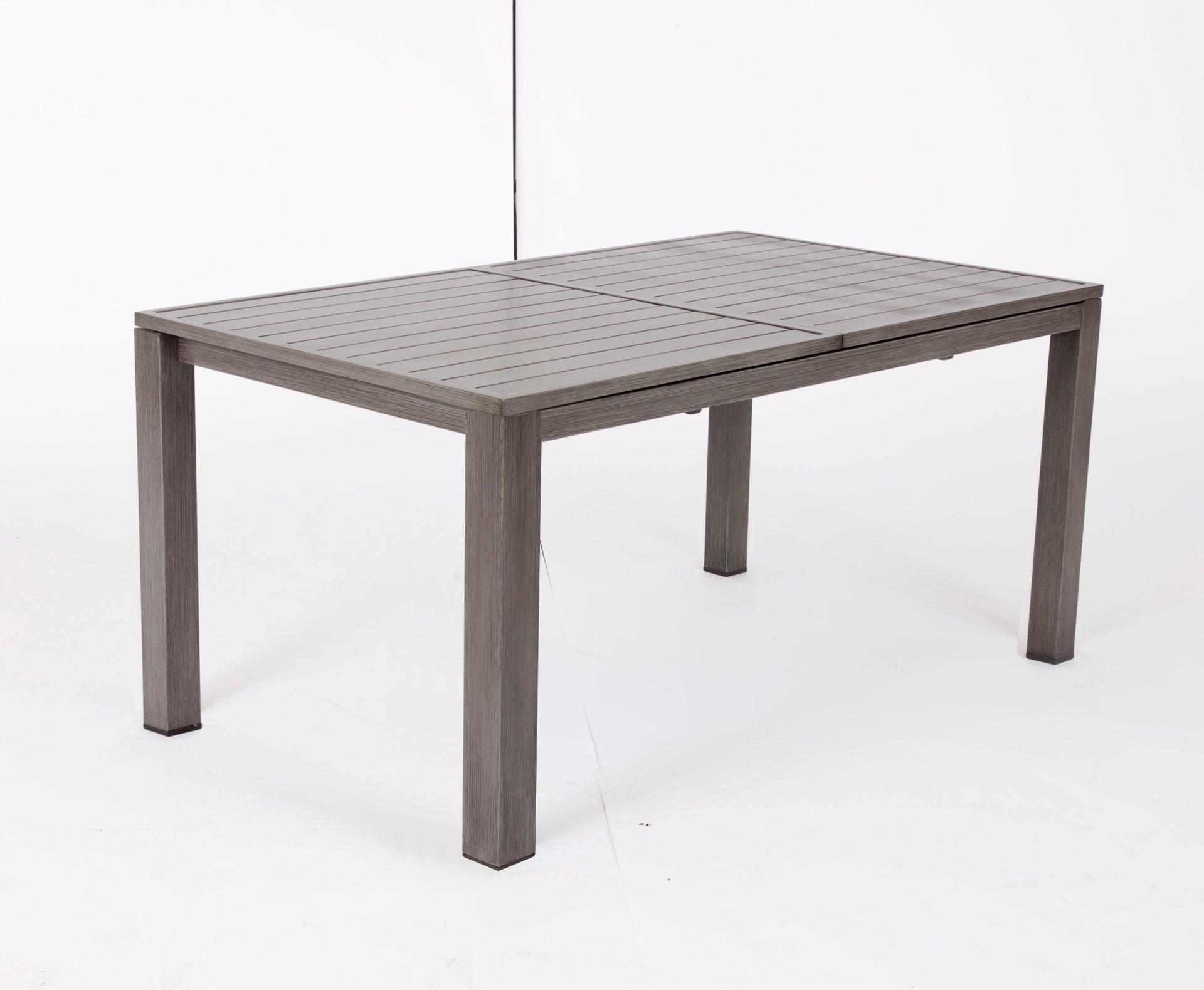 Table de jardin de repas NATERIAL Antibes rectangulaire gris de 10