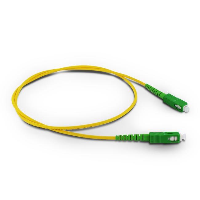 Cable Fibre Optique Male Male Metronic 0 8 M Leroy Merlin