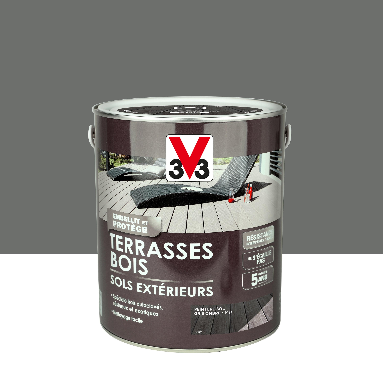 Peinture sol extérieur Terrasse bois V9 gris ombré mat 9.9 l