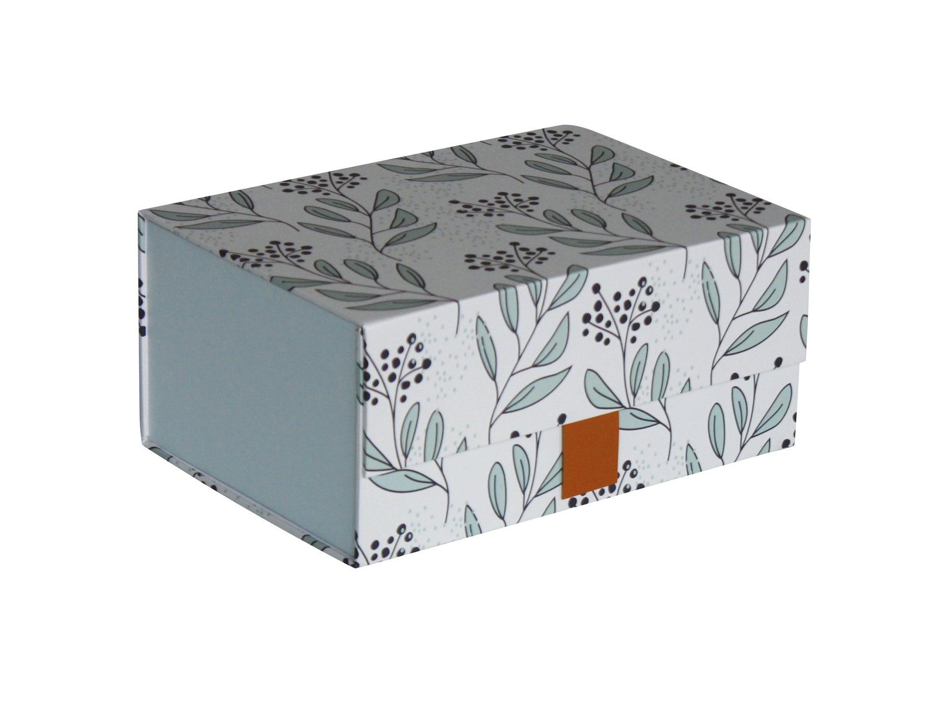 Boîte de rangement avec couvercle carton BOX & BEYOND Myrth H.9 x l.14 x P.20 cm | Leroy Merlin