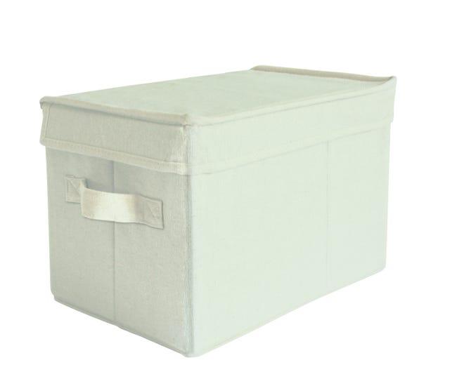 Boite De Rangement Tissu Box Beyond Saara S Beige H 20 X L 30 X P 20 Cm Leroy Merlin