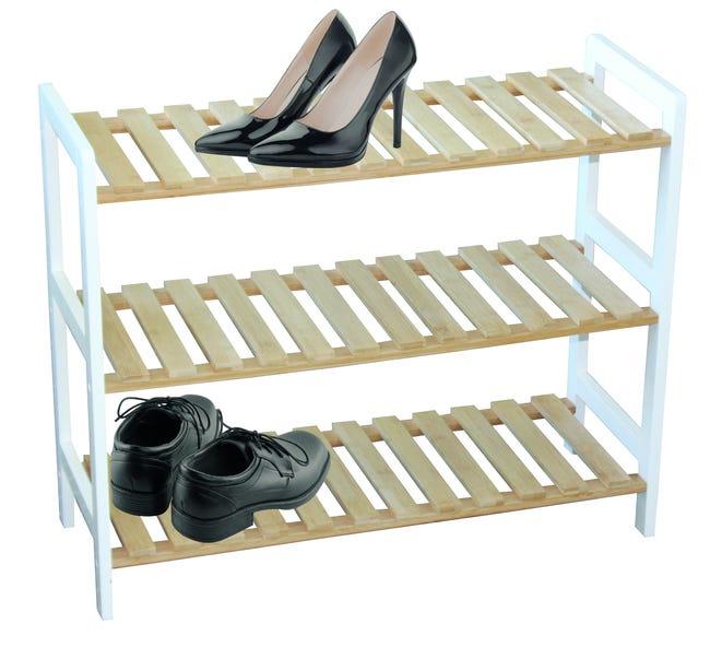 Range Chaussures A Poser Blanc 16 Paires Maximum H 54 5 X L 25 5 Cm Leroy Merlin