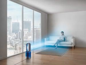 Image : Purificateur d'air connecté DYSON Pure hot+cool link bleu