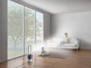 Image : Purificateur d'air connecté DYSON Pure hot+cool link blanc