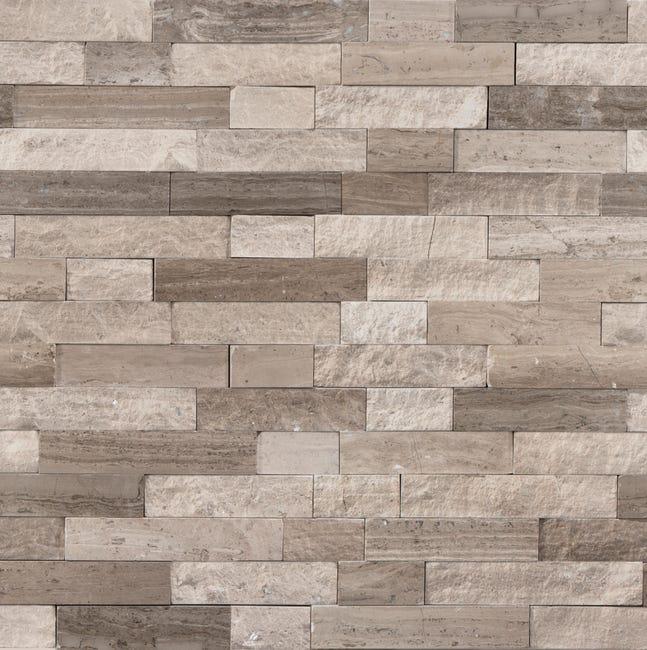 Mosaique Mur Mineral Barette Cottage Beige Leroy Merlin
