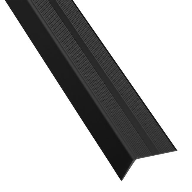 Nez De Marche Aluminium Mat Noir L 1 M X L 4 Cm X H 2 5 Cm Leroy Merlin
