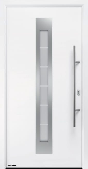 Porte D Entree Acier Hormann Renodoor 2 H 215 X L 90 Cm Vitree Blanc Pou Droit Leroy Merlin