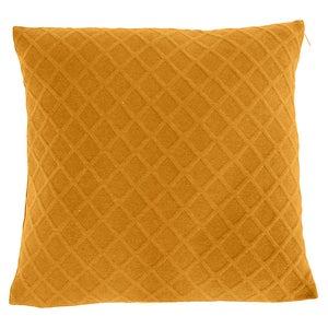 Image : Coussin Malley, jaune  l.45 x H.45 cm