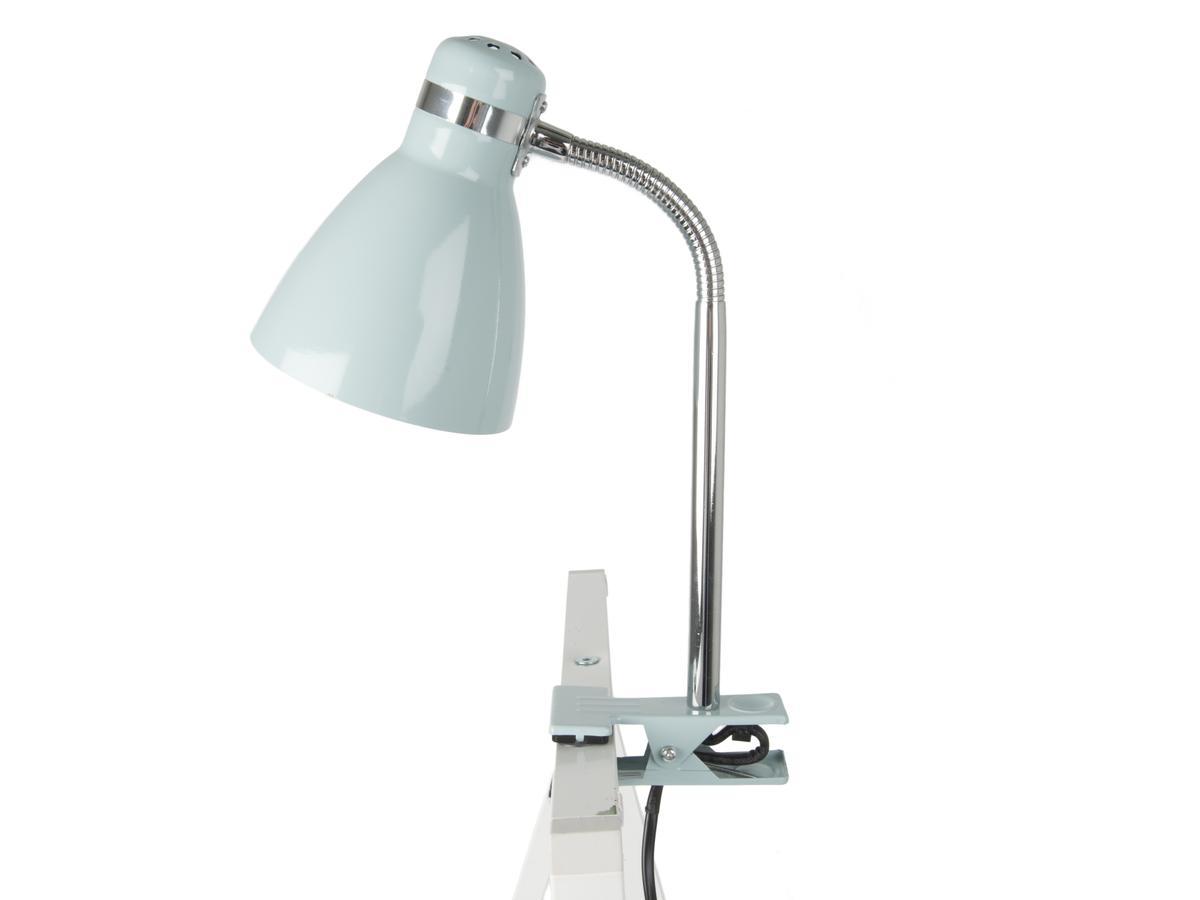 Lampe de bureau à pince, moderne, plastique blanc commande, INSPIRE Salta