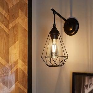 Image : Applique métal noir INSPIRE Byron 1 lumière(s)
