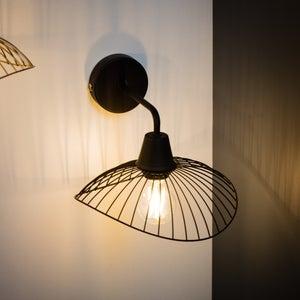 Image : Applique, design métal noir SEYNAVE Kasteli 1 lumière(s)