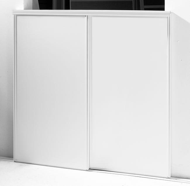 Porte De Placard Coulissante Blanc 2 Portes L 180 X H 250 Cm