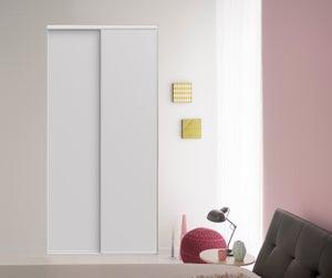 Lot de 2 portes de placard coulissante frêne blanc EKIPA l.150 x H.250 cm