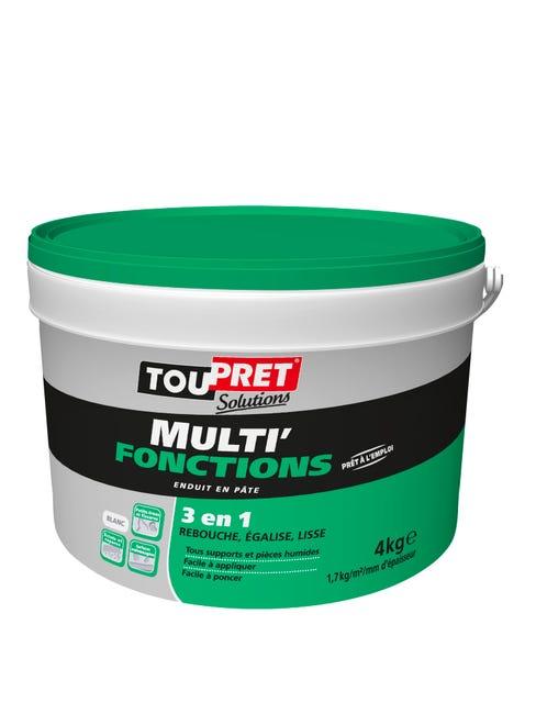 Enduit Multifonction Toupret Multi Fonctions 4 Kg En Pate Pour Mur Et Plafond Leroy Merlin