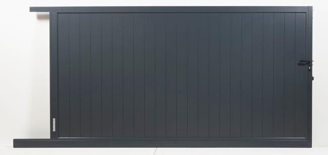 Portail Coulissant Aluminium Valmont L 300 X H 180 Cm Leroy Merlin