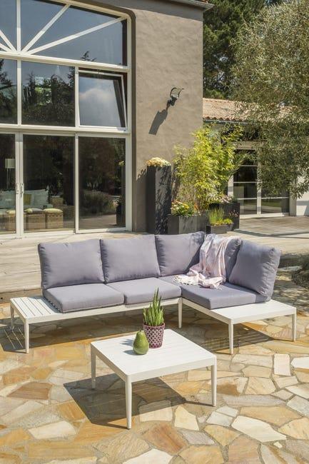 Salon Bas De Jardin Ankara S1 Aluminium Blanc Et Gris Bleu 5