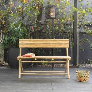 Image : Banc 2 places de jardin en bambou Taman naturel