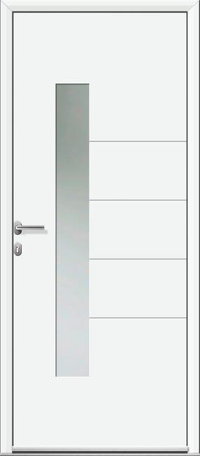 Porte D Entree Alu Navia Essentiel H 215 X L 90 Cm Vitree Blanc Poussant Droit Leroy Merlin