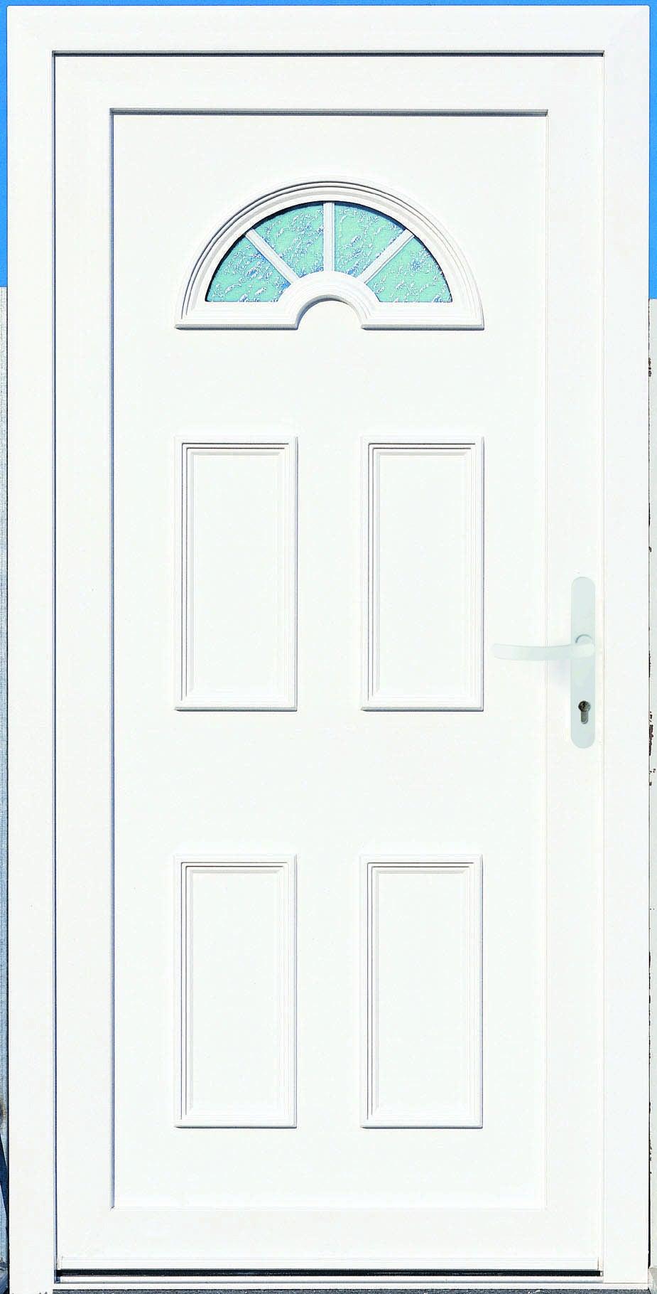 porte d entree pvc elegance 2 primo h 215 x l 90 cm vitree blanc poussant droit