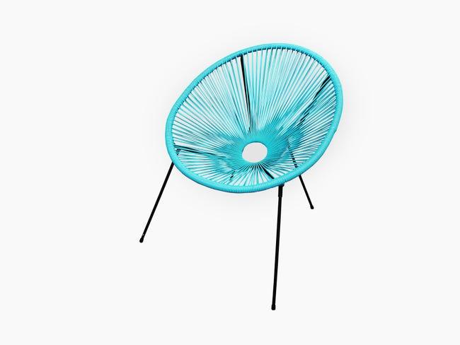 Chaise De Jardin En Acier Acapulco Bleu Turquoise Leroy Merlin