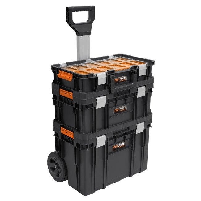 Servante De Chantier Dexter Pro Mobile Toolbox Set Plastique L53 Cm