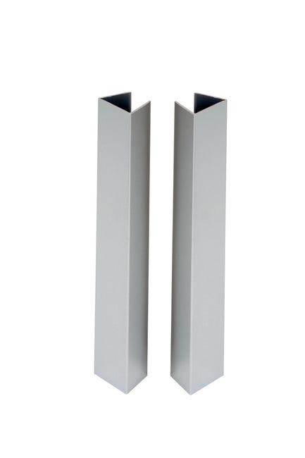 Lot De 4 Profils De Finition Pour Plinthe Aluminium L 19 5 X L 14 5 Cm Leroy Merlin