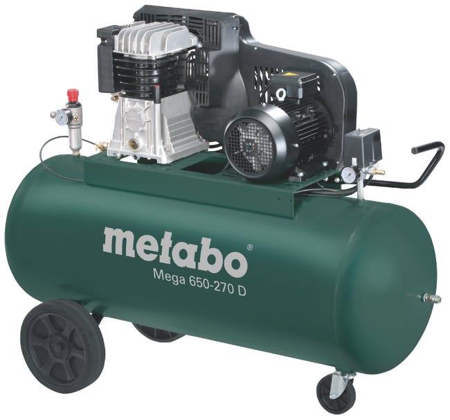 Compresseur De Chantier Metabo 270 L 5 5 Cv Mega 650 270 D Leroy Merlin