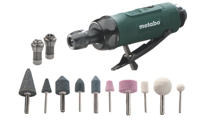 Coffret Meuleuse Droite à Air Comprimé Dg 25 Set Metabo