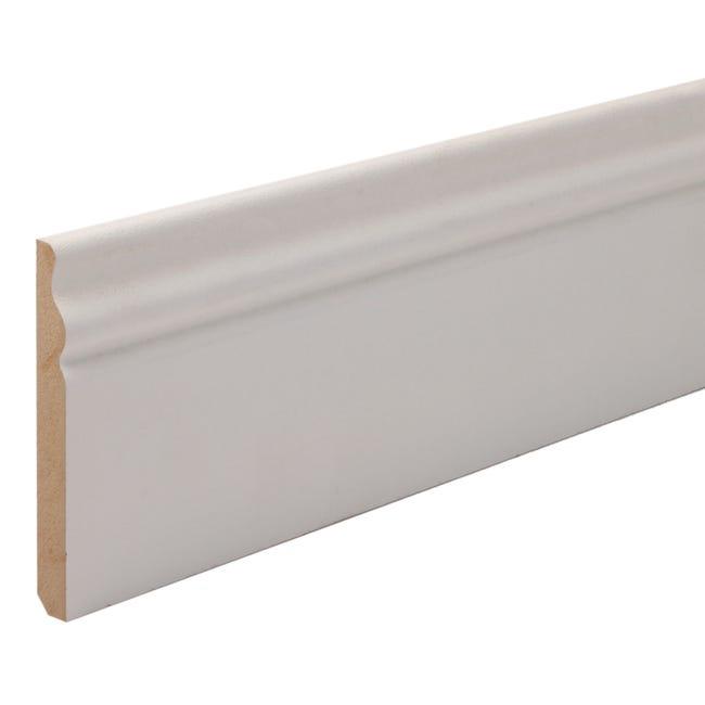 Plinthe Mdf Revetu Papier Blanc H 18 X L 2 4 M X Ep 118 Mm Leroy Merlin