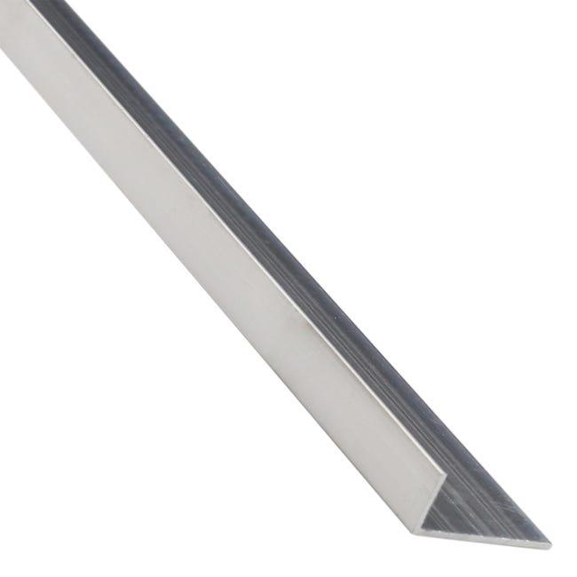 Corniere Inegale Aluminium Brut Argent L 2 6 M X L 3 Cm X H 1 7 Cm Leroy Merlin