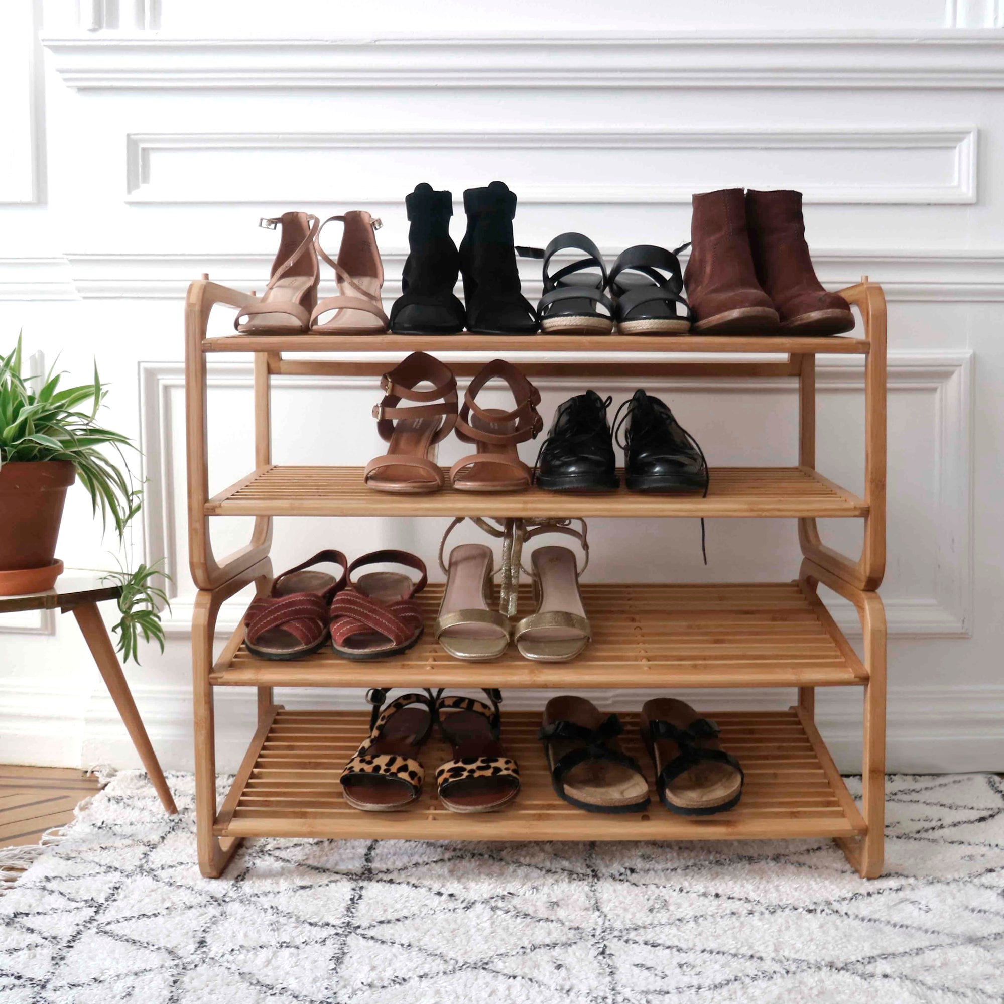Range Chaussures A Poser Marron 12 Paires Maximum H 34 X L 75 Cm Leroy Merlin
