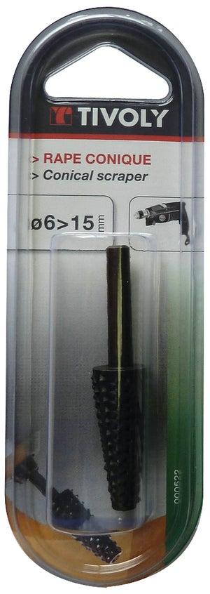 Image : Râpe sur tige conique diam. 15 mm