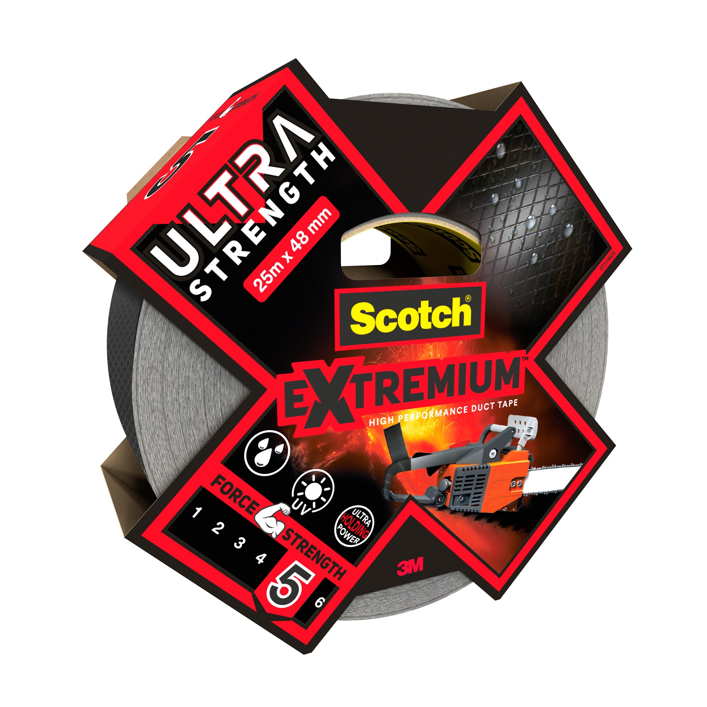 Noir Toile adhésive de réparation Scotch Largeur 48 mm Longueur 25 m
